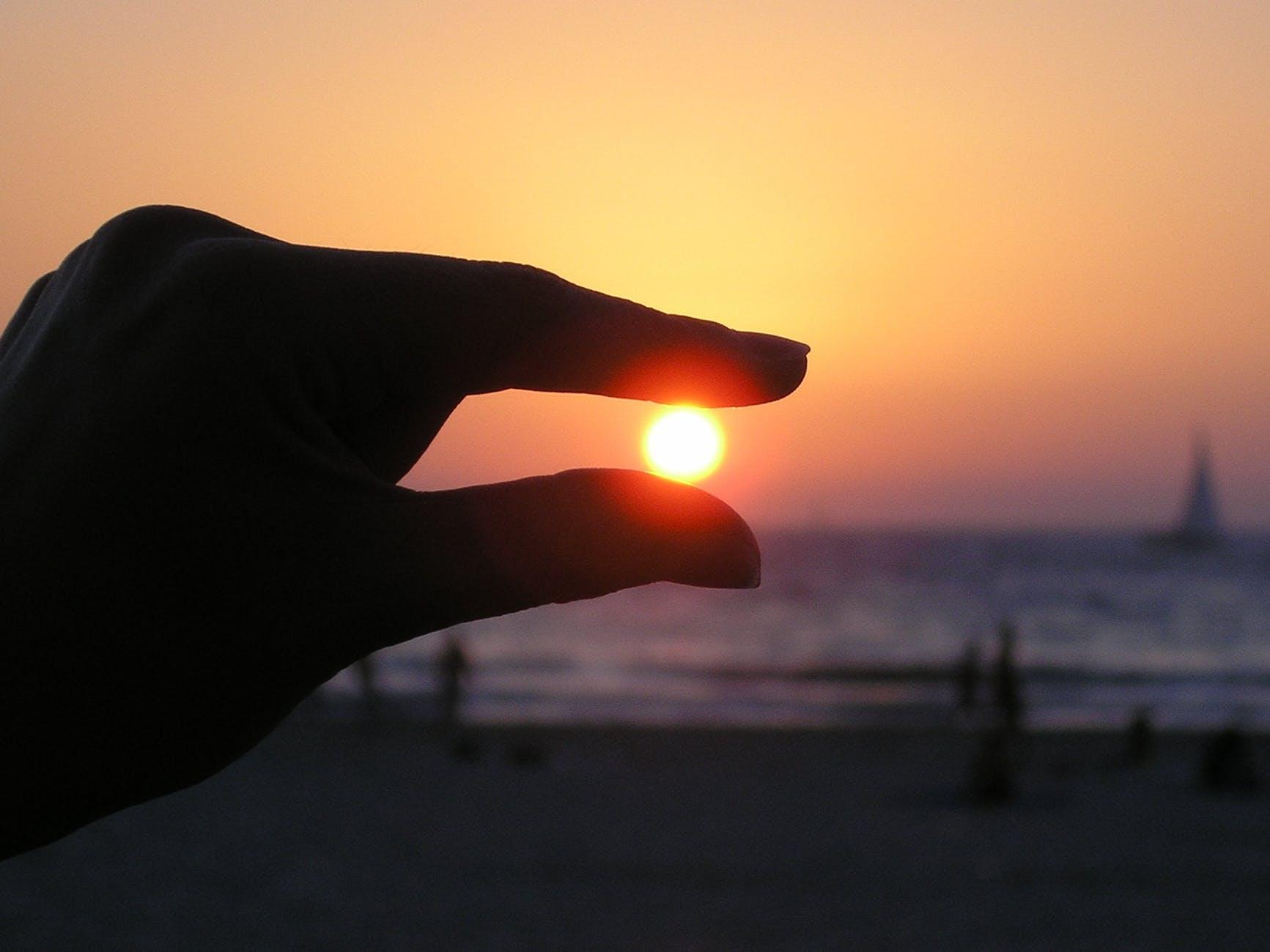 sky sunset beach ocean