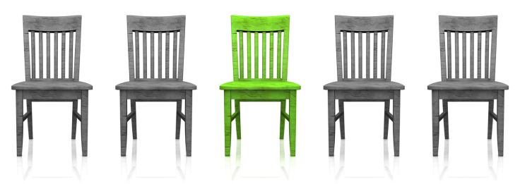 gray chairs - green